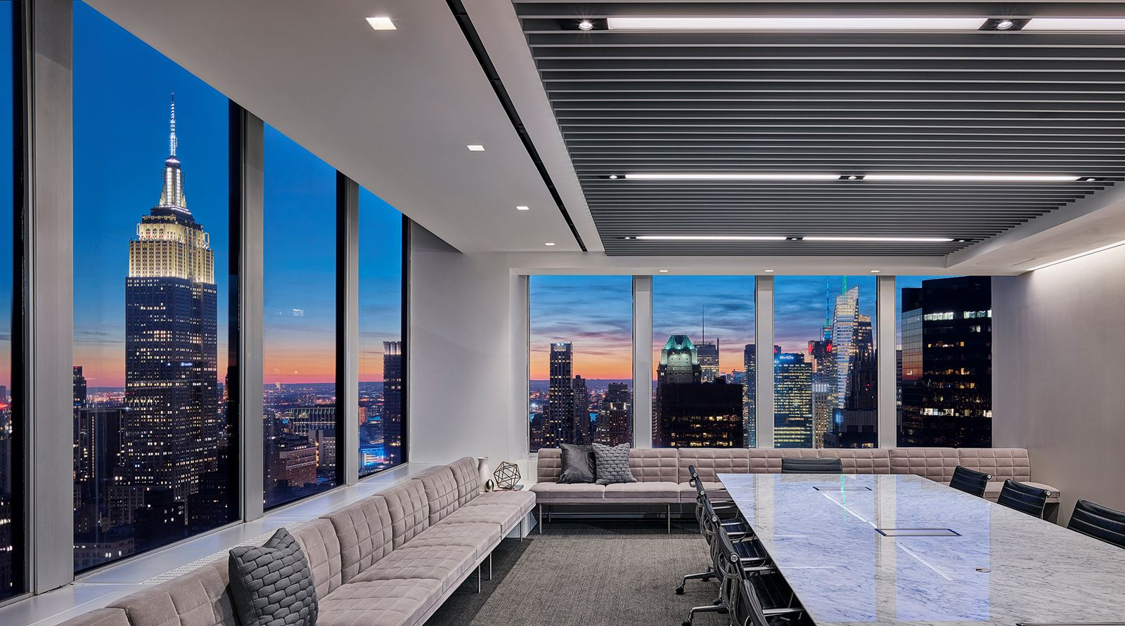 Polsinelliu0027s New York Office Juxtaposes Contemporary Materials, Fabrics And  Textures With Classic City Views To Create A Forward Looking Home For One  Of The ...